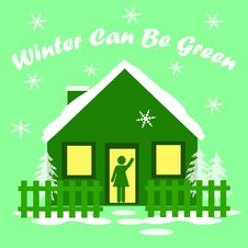 Free Winter Green House Stock Photography - 16229532