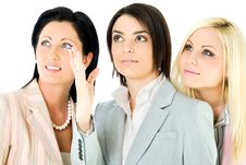Free Team Businesswomen Looking Up Royalty Free Stock Photos - 16229608