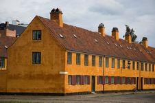 Large Orange House Stock Photography