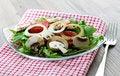 Free Salad With Arugula And Fungi Royalty Free Stock Photography - 16230647