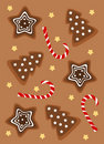 Free Christmas Gingerbread Background Stock Photography - 16231732