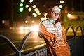 Free Teenage Gang Member At Night Stock Images - 16236904
