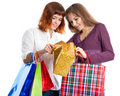 Free Two Teen Girls With Bags Stock Photography - 16237382