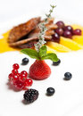 Free Berries With Roasted Duck Breast Fillet Royalty Free Stock Images - 16237889