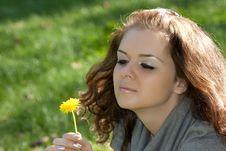 Woman Smiles Royalty Free Stock Photo