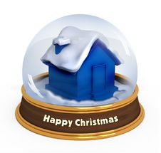 Free Christmas Snow Globe Royalty Free Stock Photos - 16230218