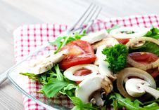 Free Salad With Fungi And Tomato Royalty Free Stock Images - 16230619