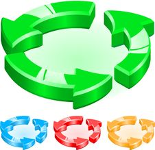 Sample Recycling Royalty Free Stock Photography