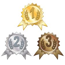 Free Three Medals Stock Photos - 16230963
