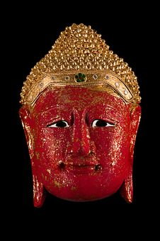 Free Red Buddha Isolated On Black Stock Images - 16231034