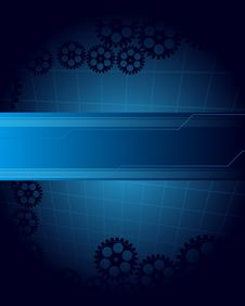 Free Abstract Blue Background Stock Photography - 16231102