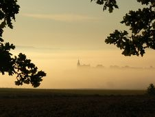 Free Church In The Fog Royalty Free Stock Photography - 16231287
