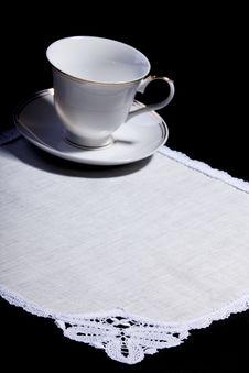 Free Cup On White Doily Royalty Free Stock Photos - 16231658