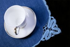 Free Cup On Doily Stock Photography - 16231662