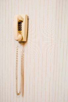 Free Old Wall Mounted Telephone. Stock Photography - 16232182