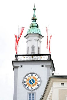 Free Church Clock In Austria Isolated Royalty Free Stock Images - 16232729