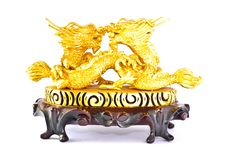 Free Two Golden Dragon Royalty Free Stock Image - 16232926