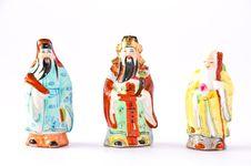 Free Three Chinese God Stock Photography - 16233102