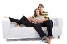 Young Teenagers In Love Royalty Free Stock Photos