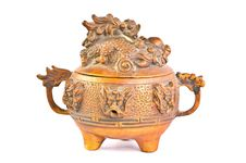 Free Old Brass Dragon Incense Burner Stock Image - 16233251
