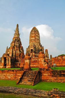 Free Ayutthay Historical Park In Thai Royalty Free Stock Photos - 16233658