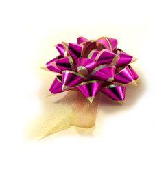 Free Purple Gold Stripe Ribbon Royalty Free Stock Images - 16233659