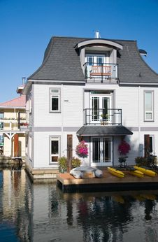 Float Homes Or Marina Village Royalty Free Stock Photo