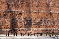 Free Beach, Sand And Red Cliff Stock Photos - 16234353