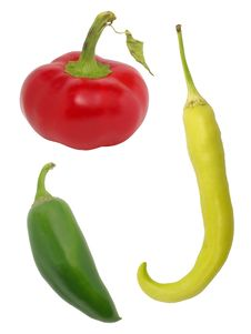 Assorted Hot Peppers Royalty Free Stock Photos
