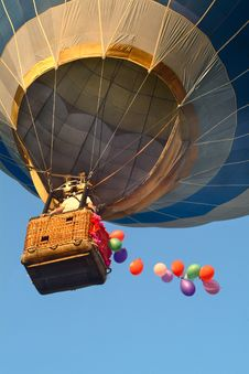 The Aerial Balloon In The Ukrainian City Charkow. Royalty Free Stock Image