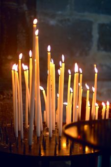 Free Candles In Church, In Northern France Stock Images - 16235794
