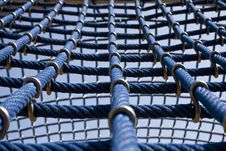 Free Big Blue Ropes In A Playground, For Children Stock Image - 16236111