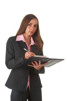 Beautiful Brunette Businesswoman Royalty Free Stock Photo