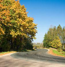 Free Autumn Rural Road Stock Photo - 16236780