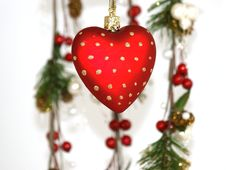 Free Christmas Decoration On White Background Royalty Free Stock Photos - 16236828