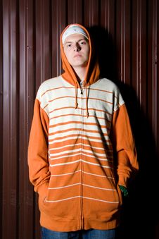 Teenage Gang Member At Night Royalty Free Stock Photography