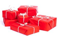 Group Of Giftboxes Royalty Free Stock Photo