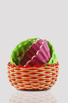 Free Colorful Woven Basket Stock Photos - 16238133