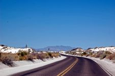 Free White Sands Road Stock Image - 16238571
