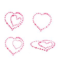 Free Pink Heart  Water Drops Royalty Free Stock Image - 16239396