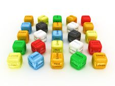 Free Dice Loves And Not Loves - Your Choise. 3D Stock Photography - 16239712