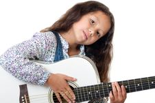 Free Girl Plays The Guitar Royalty Free Stock Photo - 16239725