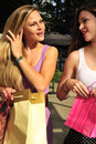 Free Girls With Shopping Bags Royalty Free Stock Images - 16240949