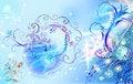 Free Blue Brushwork Ornaments Stock Images - 16241124