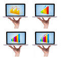 Free Dimensional Colorful Chart Collection In Laptop 1 Stock Photos - 16242573