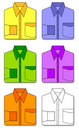 Free Colorful Set Of Shirts Stock Images - 16243894