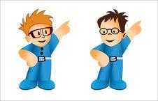 Cartoon Businessman Royalty Free Stock Photo