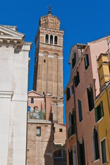 Free San Stefano Church Located At Venice, Italy Royalty Free Stock Photography - 16241147