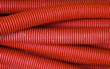 Free Red Corrugated Pipe Royalty Free Stock Images - 16241539