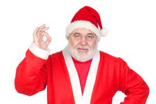 Free Funny Santa Claus Saying OK With His Thumbs Royalty Free Stock Photography - 16241747